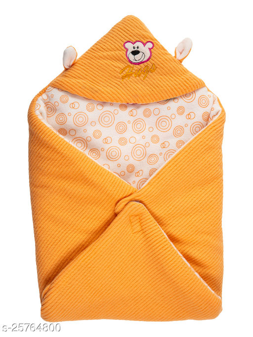 BABYZONE Super Soft AC Blankets Cum Wrapper Yellow Size 69x69