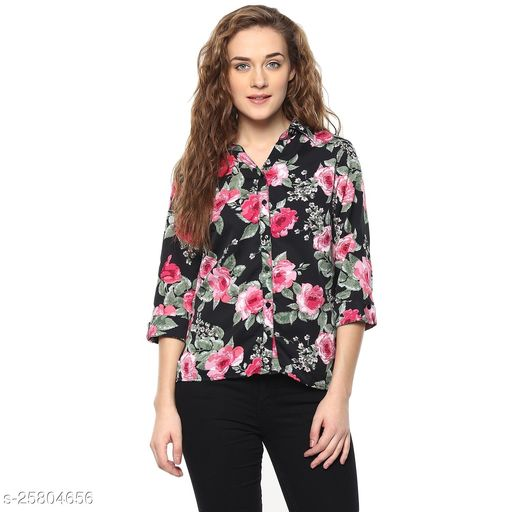 Trendy Women's Crepe Shirt