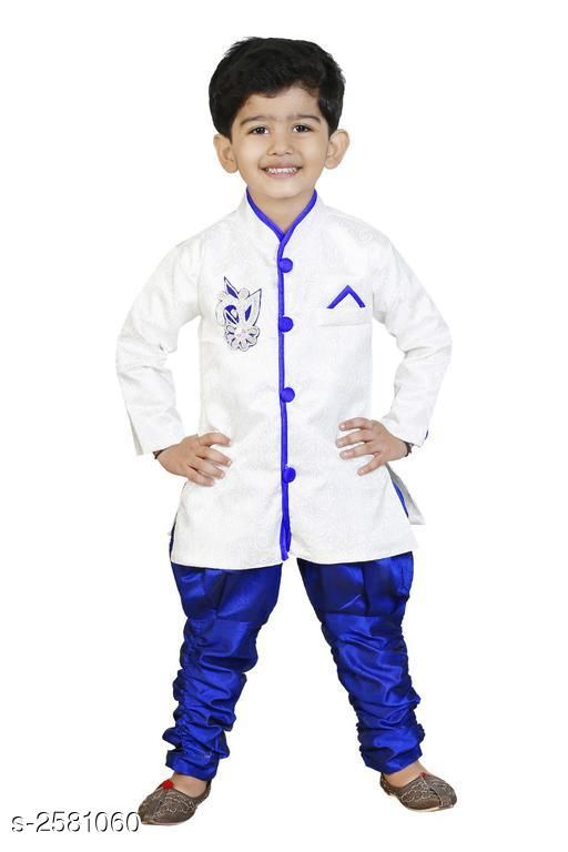 Sherwanis Kid's Boy's Sherwani Set  *Fabric* Art Silk  *Sleeves* Sleeves Are Included  *Size* Age Group (2 - 3 Years) - 20 in Age Group (3 - 4 Years) - 22 in Age Group (4 - 5 Years) - 24 in Age Group (5 - 6 Years) - 26 in Age Group (6 - 7 Years) - 28 in Age Group (7 - 8 Years) - 30 in Age Group (8 - 9 Years) - 30 in  *Type* Stitched  *Description* It Has 1 Piece Of Kid's Sherwani & 1Piece of Kid's Payjama  *Work / Pattern* Printed / Solid  *Sizes Available* 2-3 Years, 3-4 Years, 4-5 Years, 5-6 Years, 6-7 Years, 7-8 Years, 8-9 Years, 9-10 Years, 10-11 Years, 11-12 Years, 12-13 Years, 13-14 Years, 14-15 Years, 15-16 Years, Free Size *   Catalog Rating: ★3.5 (23)  Catalog Name: Elegant Kid's Boy's Sherwani Sets Vol 7 CatalogID_348299 C58-SC1172 Code: 883-2581060-