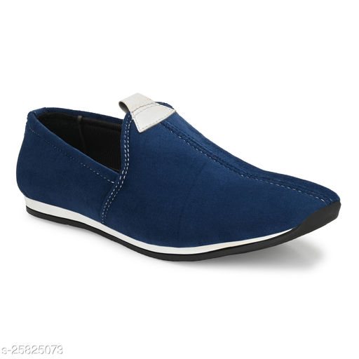 Ray J Suede Nagra Style Blue Loafer Shoes For Men