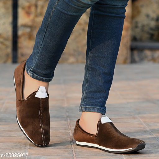 Ray J Suede Nagra Style Brown Loafer Shoes For Men