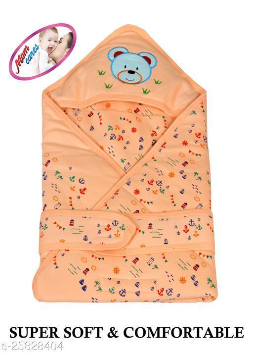 MOM CARES Printed Single Baby Sleep Sack(Orange)