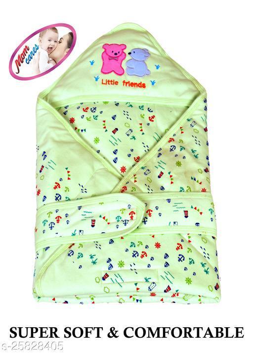 MOM CARES Printed Single Baby Sleep Sack(Green)
