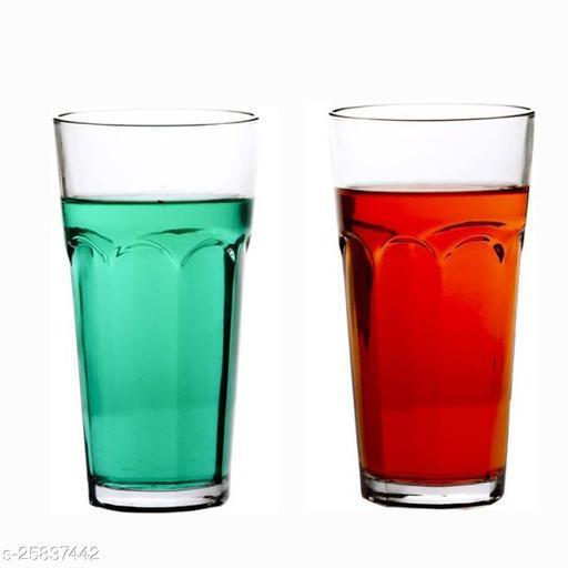 Somil Multipurpose Beaver Tumbler Drinking Glass Set for Water, Juice, Milk, Cold Drink, Hot & Cold Drinks (Set Of 2)
