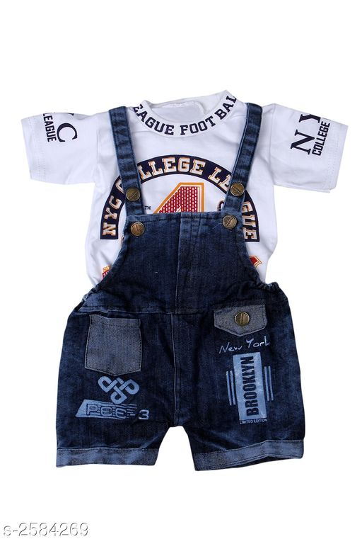 Dungarees Amazing Kid's Dungaree  *Fabric* Cotton  & Denim  *Sleeves* Sleeves Are Included  *Size* Age Group (0 Months - 6 Months) - 12 in  *Type* Stitched  *Description* It Has 1 Piece Of Kid's Dungaree  *Work* Printed  *Sizes Available* 0-3 Months, 0-6 Months, 3-6 Months *    Catalog Name: Amazing Kid'S Dungaree'S Vol 9 CatalogID_348736 C62-SC1152 Code: 283-2584269-