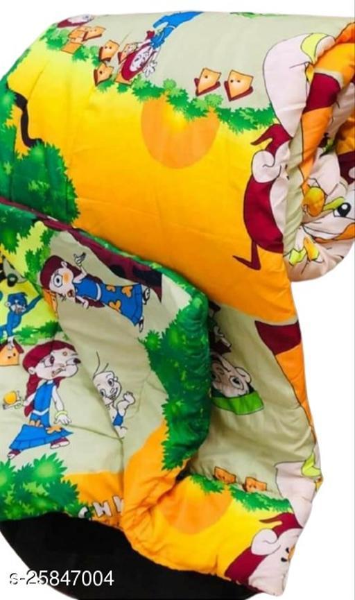 Trendy Unisex Baby Blanket or Quilt (Bheem) Orange