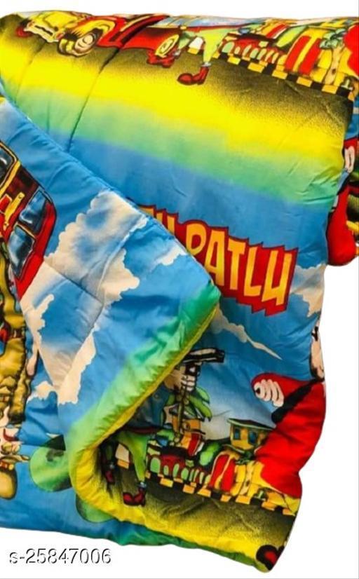 Trendy Unisex Baby Blanket or Quilt (Motu Patlu)