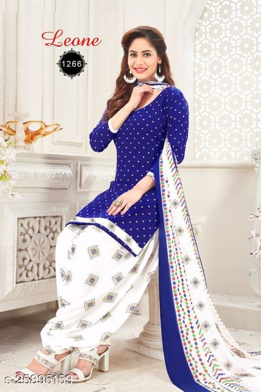Italian crepe Printed Unstiched Suits