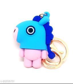 Arkanum Cute Mang BTS BT21 KPop Character Doll Fancy Silicone Keyring Keychain