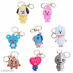 Arkanum Cute Van Mang Tata RJ chimmy Koya Shooky Cooky BTS BT21 KPop Character Doll Keychain