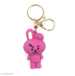 Arkanum Cute Cooky BTS BT21 KPop Character Doll Fancy Silicone Keyring Keychain