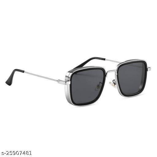 UV Protected  Kabir singh Silver Black Sunglasses