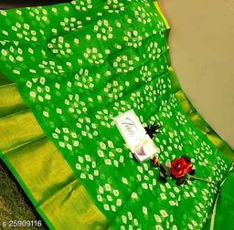 Gomore Fashion Soft Cotton Saree with Running Blouse