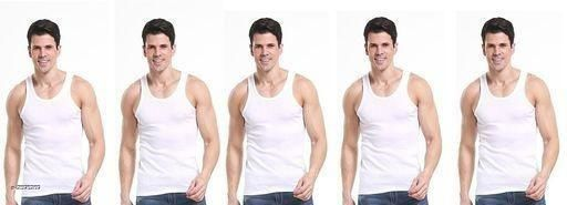 Innerwear Vests Fancy Cotton Solid Men's Innerwear Vests (Pack Of 5)  *Fabric* Cotton  *Sleeves* Short Sleeves Are Included  *Size* S - 80 cm, M - 85 cm, L - 90 in, XL - 95 in, XXL - 100 cm     *Length* Up To 22 in  *Type* Stitched  *Description* It Has 5 Pieces Of Men's Vests  *Pattern* Solid  *Sizes Available* S, M, L, XL, XXL *   Catalog Rating: ★4.2 (5)  Catalog Name: Comfy Cotton Solid Men's Innerwear Vests Vol 1 CatalogID_350325 C68-SC1217 Code: 433-2595269-