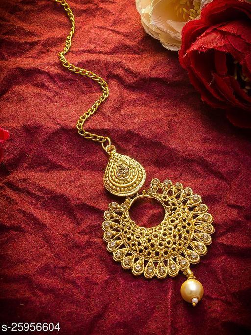 Allure Kundan Gold Plated Indian Women's Maangtikka
