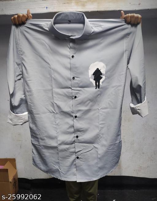 Fashion Men's Digital printed shirt fabric (unstitched)