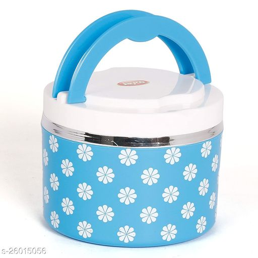 Jayco Venice Insulated Inner Steel Office Lunch Box with Salad Box, 1-Piece, 450 ml, Blue