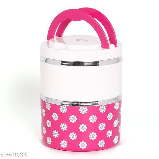 Jayco Insulated Stylish Designed Layers Lunch Box - Venice 2, Pink