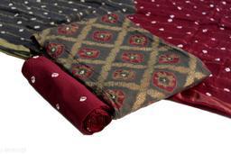 Arkaja Authentic Jacquard Golden Checks Print Dress Material