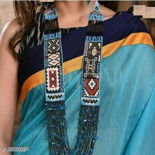 Designer Glass Seed Beads Jewellery Set