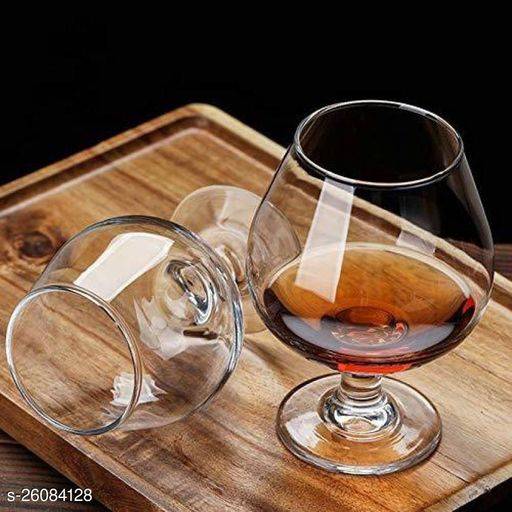 Royal Wine, Cocktail, Champagne Drinking Clear Glass Set , (Set Of 2)