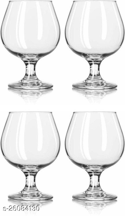 Royal Wine, Cocktail, Champagne Drinking Clear Glass Set , (Set Of 4)