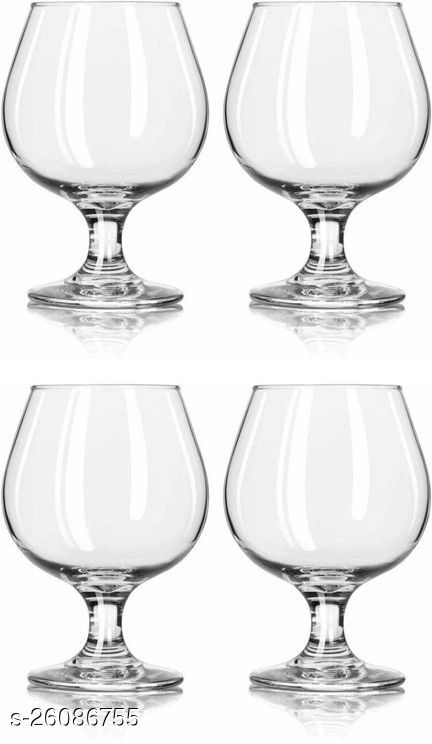 Afast Royal Wine, Cocktail, Champagne Drinking Clear Glass Set , (Set Of 4)