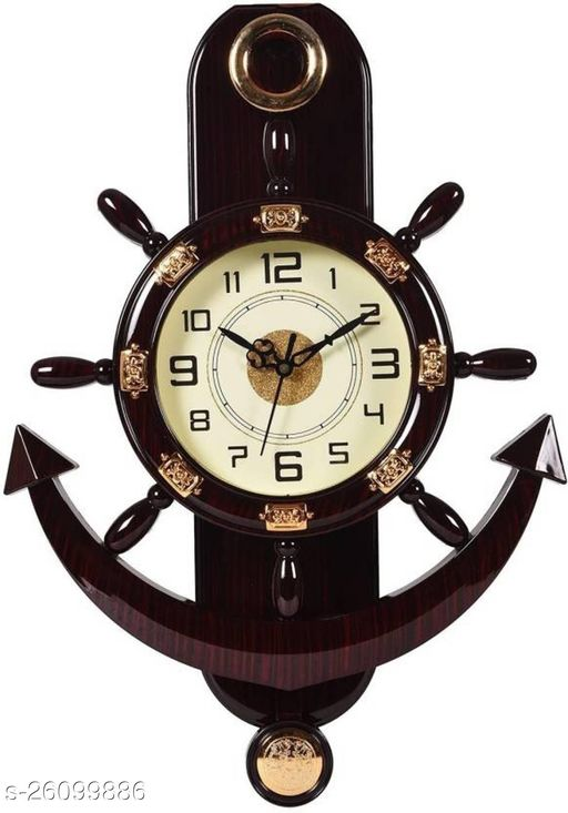 Unique Wall Clock anchor shape pendulum clock