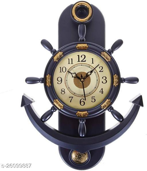 fancy wall clock anchor shape pendulum clock