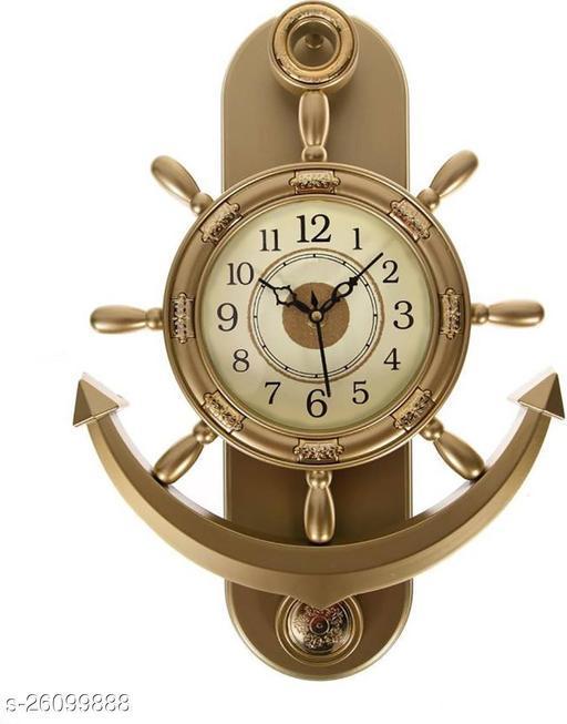 metallic color clock anchor shape pendulum clock