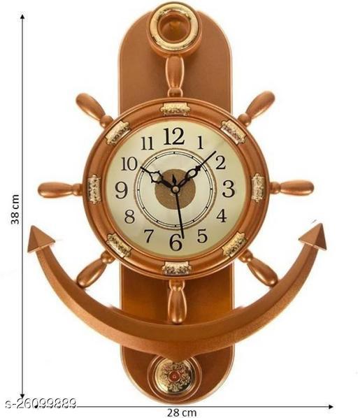 digital clock anchor shape pendulum clock