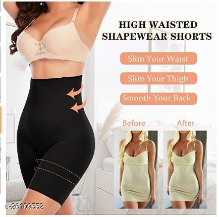 Women's Cotton Nylon Seamless Wired Tummy Control High Waist and Thigh Ladies Shaper Briefs Shapewear (Free Size Fit Up to M-L-XL-XXL)