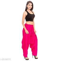 KriSo Women's Cotton Patiala Salwar Free Size Pink Colour