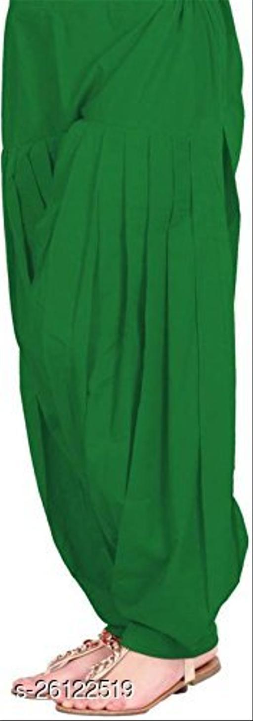KriSo Women's Cotton Patiala Salwar Free Size Green Colour