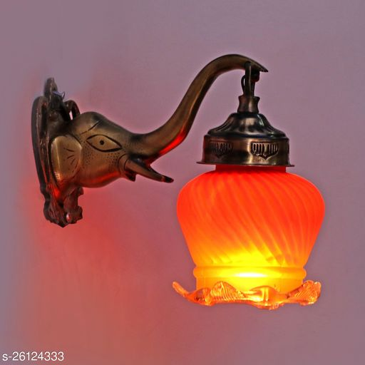 Afast New Stylish Hand Decorative Colorful Glass Wall Lamp LightWith Royal Elephant Shape Fitting , Computable With 5 TO 60 Watt LED And Other Bulbs