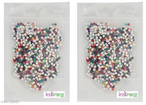Indirang Pack of 2 Plain Colorful Velvet Bindis