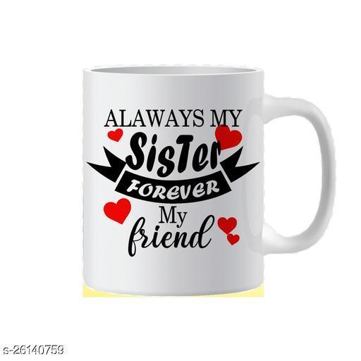 Sister Forever Printed Ceramic Coffee Mug (350 ml)