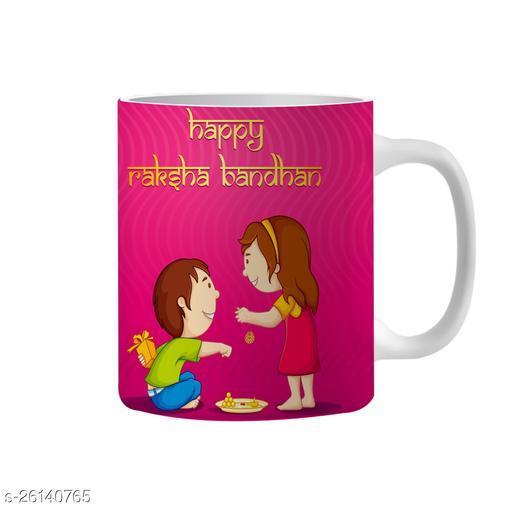 Happy Raksha Bandhan Ceramic coffee Mug (350 ml)