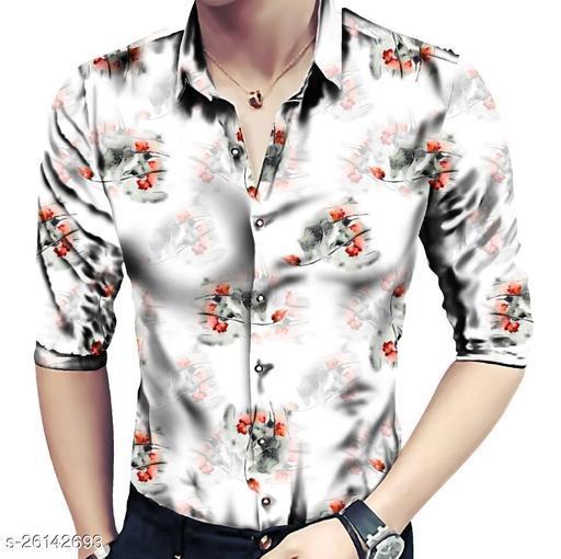 Trendy Men's Polycotton Printed Shirt