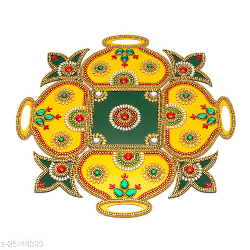 Reusable Acrylic Rangoli for Floor Decoration in Diwali - Handicraft - AAR002