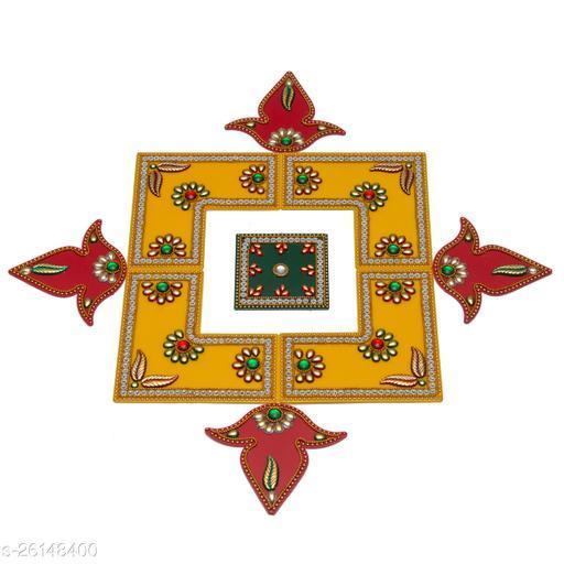 Reusable Acrylic Rangoli for Floor Decoration in Diwali - Handicraft - AAR005
