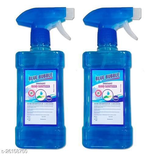 Lovely Fashion Blue Bubble Spray Hand Sanatizer - Alcohol 70% - Kill Germs 99.9% - 500ml Spray 2 Bottale Hand Sanitizer