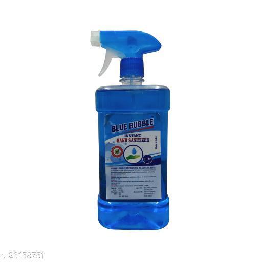 Lovely Fashion Blue Bubble Instant 1 Ltr Sanitizer- Alcohol 70% - Kill Germs 99.9% Hand Sanitizer Cane