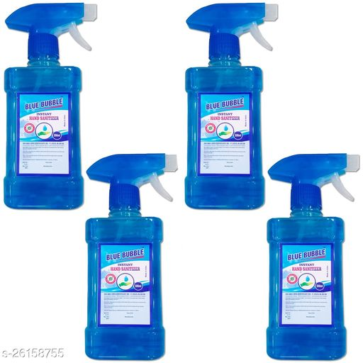 Lovely Fashion Blue Bubble Spray Hand Sanatizer - Alcohol 70% - Kill Germs 99.9% - 500ml Spray 4 Bottale Hand Sanitizer