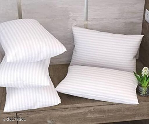 """SleepEzy Super Soft Premium Quality Bed/Sleeping Pillow l Washable Pillow l Premium Pillow of Size 17""""X26"""", Pack of 5) (White)"""