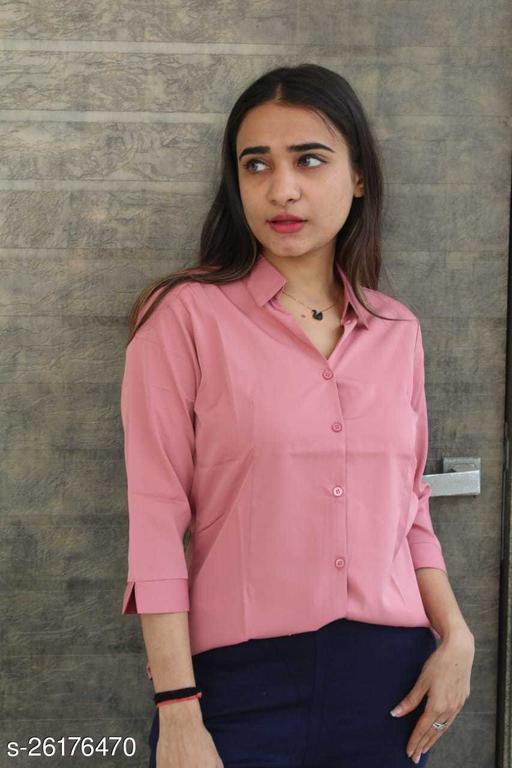 SATIMA Women Havey Georgette Solid Shirt