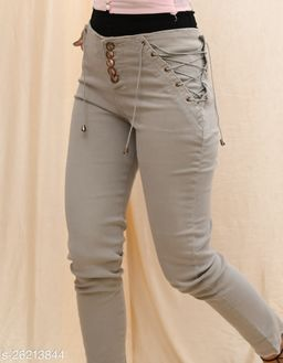 Slim Fit Jeans with Contrast Stripes