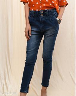 Styled Denim High Rise Jeans
