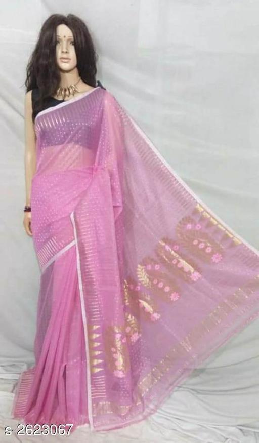 Sarees Trendy Jamdani Saree  *Fabric* Saree - Jamdani  *Size* Saree Length - 5.5 Mtr  *Description* It Has 1 Piece Of Saree Without Blouse  *Work* Handloom  *Sizes Available* Free Size *    Catalog Name: Printed Jamdani Sarees CatalogID_354491 C74-SC1004 Code: 039-2623067-