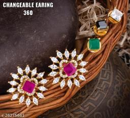 Shimmering Colorful Earrings